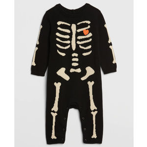 Baby Gap Skeleton Intarsia Sweater Romper